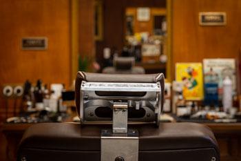 Photographie d'intérieur chez un coiffeur barbier à Deauville
