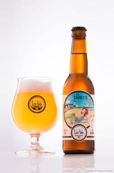 Photographie packshot des bières de la Brasserie Artisanale Bio La Lie