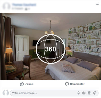 Publication d'une photo 360° sur Facebook