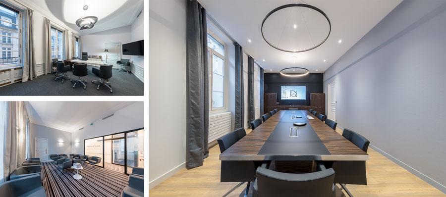 Photographie d'architecture d'intérieur de l'étude notariale Deshayes et Associés réalisée par l'architecte Nicolas Guérin