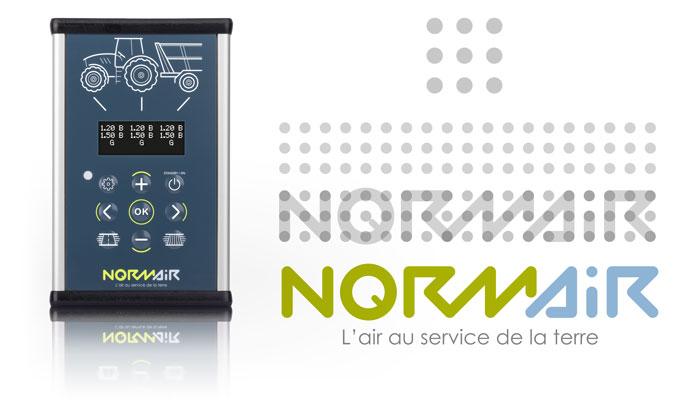 Recherche et création de l'identité visuelle et du logo Norm'Air d'après la conception du produit