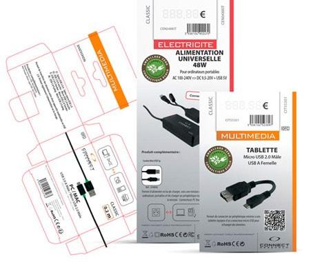 Packaging générés automatiquement pour les Facings de magasins BAF Import