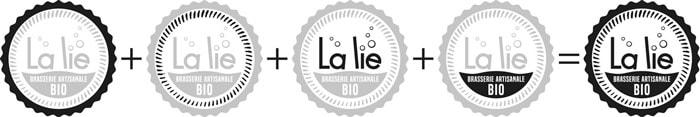 Décomposition de la création du logotype de la Brasserie La Lie