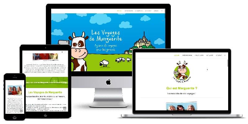 Site Internet responsive des Voyages de Marguerite