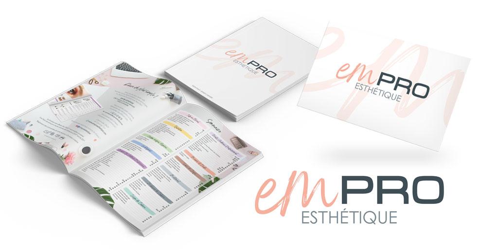 Identité visuelle de la société EM Pro Esthétique